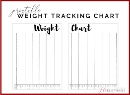 Printable Weight Chart Tracker Weight Tracking Chart Bullet Journal Inspired Printable Layout