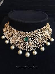 diamond necklace india beautiful indian diamond choker necklace design jewels