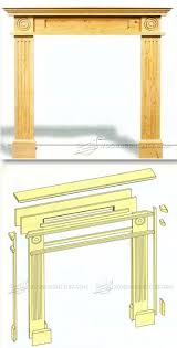 fireplace surround plans woodworking plans and projects woodarchivist com