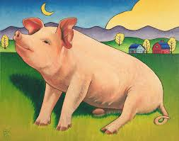 title some pig artist stacey neumiller um painting oil on canvas