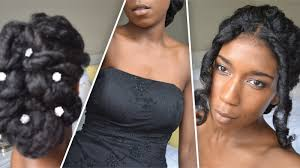 Natural Formal Hairstyles Classic Prom And Wedding Updo Natural Hair Youtube