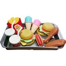 Kitchen Toys, Justdolife Kids Toys Burger Fries Ice Cream Set Food Simulation Toy Educational
