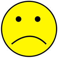 yellow sad face hd image clipart