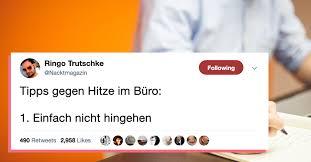 Gebt Uns Hitzefrei 14 Tweets über Viel Zu Heiße Deutsche Büros