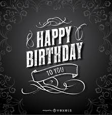 Black Happy Birthday Happy Birthday Black Elegant Card Vector Download