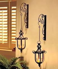 hanging candle lanterns new wall mounted hanging candle lanterns wall sconce black or bronze outdoor decorative
