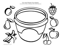 Cut And Paste Fruit Salad At Coloring Page - glum.me