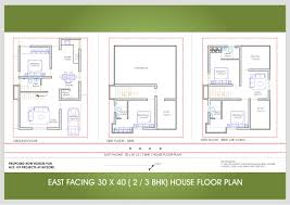 30 x 40 east face 2 or 3 bhk floor plan