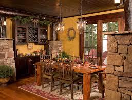 sumptuous pottery barn lighting look minneapolis rustic dining room image ideas with bar beams cabin columns fieldstone lake lake home ledgestone lodge log