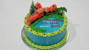 How To Make Birthday Cake Easy Topper Train Cara Membuat Kue Ulang