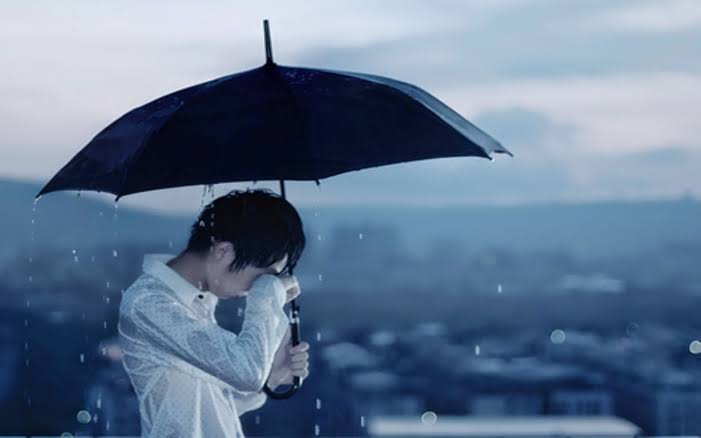 sad alone boy crying in love