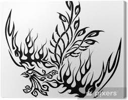 Obraz Tetování Se Fénix Na Plátně