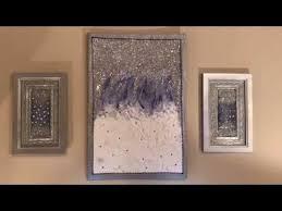 diy glitter and paint wall art dollar
