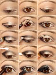 eyes of gold applying eye makeup step by