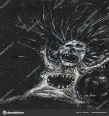 絵画をスキャン実行している悪魔は ストック写真 Aninka 177330954