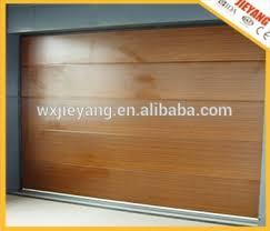 high quality wooden color flat one line 40mm door insulated door panel automatic garage door
