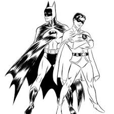 Drawings Of Batman And Robin Coloring Pages Cartoon Flying