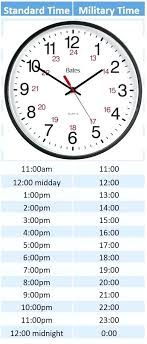 Regular To Military Time Conversion Chart Of Printable Hour Online ...