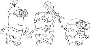Christmas Minions Coloring Pages Printable Large Size Of Book And