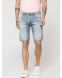 Light Blue Jean Shorts Mens Buy Men Light Blue Denim Shorts Online Jack Jones