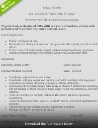 Medical Assitant Resume How To Write A Medical Assistant Resume With Examples 8