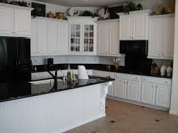 off white kitchen cabinets with black countertops. Alluring Kitchen White Cabinets Black Countertops Perfect Backsplash Subway Tile Off With Dark On Category M