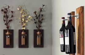 Home Decor With Wine Bottles 60 Lofty Idea Wine Bottle Wall Decor Panfan Site 29