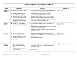 Objective Questions On Earthquake Resistant Design Of Structures February Earth Science Lesson Plans Date Objectives Activities