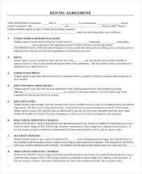 Printable Rental Agreement Template Printable Rental Agreement 21 Free Word Pdf Documents