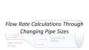 Applied Hydraulics Flow Rate Calculations Through Changing