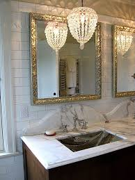 well known crystal chandelier bathroom lighting throughout lighting idea view 10 of 10