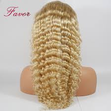 <b>613</b> Blonde <b>Lace Front Wigs</b> With Baby Hair Remy Brazilian Deep ...
