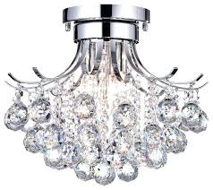 flush mount crystal chandelier 3 light semi flush mount crystal chandelier ceiling light fixture chrome large