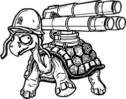 Small Picture Danger Tortoise Turtle Gun Coloring Page Wecoloringpage