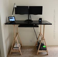 Simple Adjustable Height Desk Ikea Standing In Black With For Inspiration Decorating