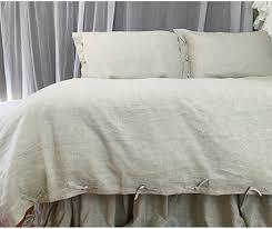 linen duvet cover queen. Natural Linen Duvet Cover With Tie Knot Closure, Cover, Bedding, Queen