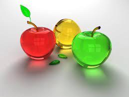 Fruit Wallpaper: Glass Apples Wallpaper ...