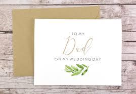 To My Dad On My Wedding Day Card Dad Card Wedding Card Father Of