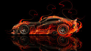 dodge viper srt fire car