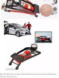 Bơm Hơi Đạp Chân Đa Năng Ô Tô Xe Máy - Bơm hơi đạp chân mini cho ÔTÔ xe máy  bơm bóng đa năng và tiện dụng + Tặng bộ 5 thìa