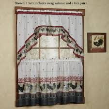 Rooster Kitchen Curtains Kitchen Kitchen Garden Window Curtains With Rooster Tier And