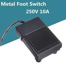 250V AC 10A Heavy Duty Metal <b>Momentary</b> Electric Power <b>Antislip</b> ...