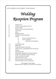 Wedding Reception Templates Free Wedding Reception Template Beautiful Unique Program