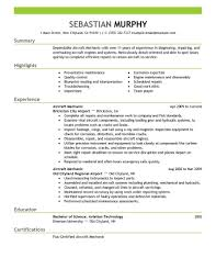 Mechanic Resume Example Mechanic Cv Aircraft Maintenance Engineer