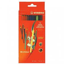 <b>Карандаши цветные STABILO</b> SWANO 12 цветов: купить по ...