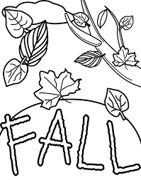 Small Picture Fall Coloring Pages Fallen Leaves Printables Clip Art Library