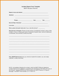 Child Care Incident Report Example Sample Incident Report Form Doc With Medical Plus In Child