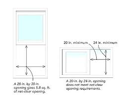 Egress Window Size Double Hung Belsit Club
