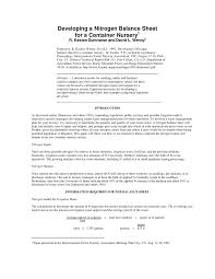 pdf developing a nitrogen balance sheet for a container nursery