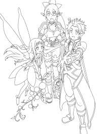 Pins For Kirito Coloring Pages From
